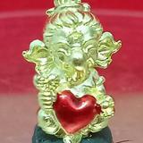 #คเณศน้อย รุ่นบันดาลรัก# #ครูบาชัยยาปัถพี # ~เนื้อสัมฤทธิ์ทอง หัวใจแดง 250._บาท