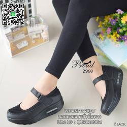 รองเท้าสุขภาพ ตัดเย็บด้วยผ้าตะข่ายและหนังพียูอย่างดี สายคาดแบบเมจิกเทป รูปเล็กที่ 6