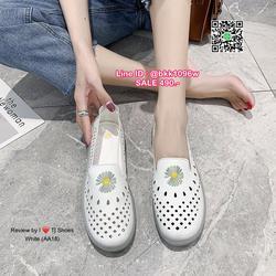 รองเท้าคัชชูหนัง วัสดุหนังPUนิ่มมาก ปักลายดอกไม้น่ารัก  รูปเล็กที่ 3