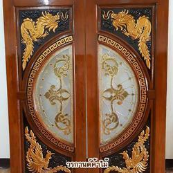 door-woodhome ร้านวรกานต์ค้าไม้ จำหน่ายประตูไม้สัก ,ประตูไม้สักกระจกนิรภัย,ประตูหน้าต่าง รูปเล็กที่ 6
