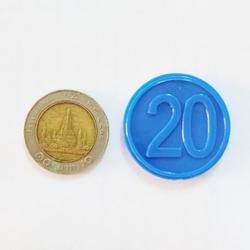 ขายเหรียญชิป คูปอง เหรียญชิพพลาสติกราคาถูกที่สุด รูปเล็กที่ 3