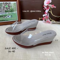 รองเท้าส้นเตารีด พลาสติกใสนิ่ม น้ำหนักเบา สูง 2.5 นิ้ว  รูปเล็กที่ 2