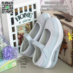 รองเท้าสุขภาพ ตัดเย็บด้วยผ้าตะข่ายและหนังพียูอย่างดี สายคาดแบบเมจิกเทป รูปเล็กที่ 3