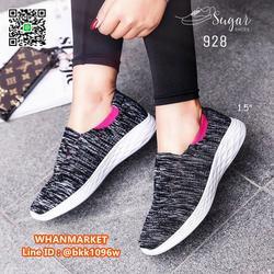 รองเท้าผ้าใบลำลอง ทำจากผ้าทอยืดหยุ่นได้ดี ทรงสวมใส่ง่าย รูปเล็กที่ 3