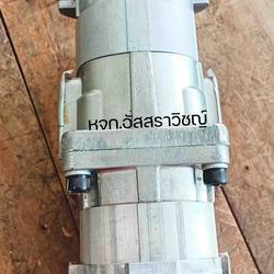 ปั้มไฮดรอลิค ยี่ห้อ โคมัตสึ (KOMATSU) ปั้มเฟืองไฮดรอลิคสองตอน เพลาฟัน รูปเล็กที่ 1