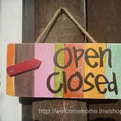 ป้ายเปิด-ปิดสวยๆสำหรับตกแต่งหน้าร้านอาหารตามสั่งร้านกาแฟครับ รูปเล็กที่ 1