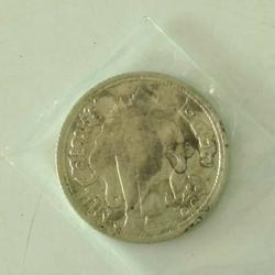 5272 เหรียญเนื้อเงิน ร.6 ปี 2467 ราคาหนึ่งสลึง ช้างสามเศียร รูปเล็กที่ 3