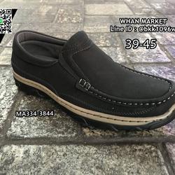 รองเท้าหนังผู้ชาย แบบสวม ทรงคัชชู วัสดุหนัง PU คุณภาพดี  รูปเล็กที่ 4