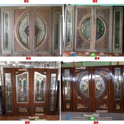 ร้านวรกานต์ค้าไม้ จำหน่าย ประตูไม้สักบานคู่กระจกนิรภัย ประตูไม้สักบานคู่ ประตูไม้สักบานเดี่ยว ทั้งปลีกและส่ง รูปเล็กที่ 4