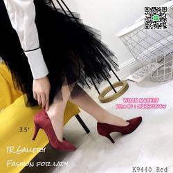 รองเท้าคัทชู หนังกลับนิ่ม หัวแหลม สูง 3.5 นิ้ว แพทเทรินสวย รูปเล็กที่ 2
