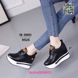 รองเท้าผ้าใบเสริมส้น 3 นิ้ว วัสดุหนัง pu คุณภาพดี  มีเชือกผู รูปเล็กที่ 5