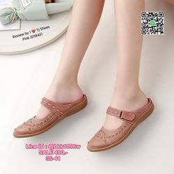 รองเท้าเปิดส้น งานน่ารักสุดๆ หนังPUนิ้มนิ่ม น้ำหนักเบา ใส่นุ่มเดินสบายมากๆ รูปเล็กที่ 6