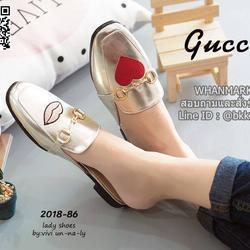 รองเท้าแตะหัวตัด งานเปิดส้น งานstyle Gucci ปักลายรูปปากและหัวใจ สุดน่าร๊าก รูปเล็กที่ 2