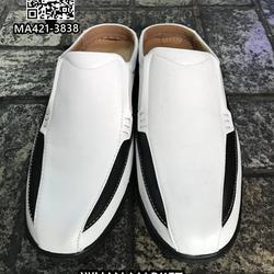รองเท้าลำลองผู้ชาย วัสดุหนัง PU คุณภาพดี แบบเปิดส้น สวมใส่ง่ รูปเล็กที่ 5