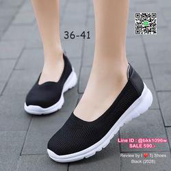 รองเท้าผ้าใบแบบสวม สุคคิ้วท์ วัสดุผ้าทออย่างดี ระบายอากาศได้ดีมาก น้ำหนักเบา พื้นกันลื่นอย่างดี บิดงอได้ ทรงสวย