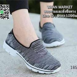 รองเท้าผ้าใบ แบบสวม ทำจากผ้ายืดทออย่างดี  พื้นนิ่มและเบามาก รูปเล็กที่ 6