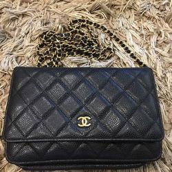 new chanel black caviar sarah wallet รูปเล็กที่ 5