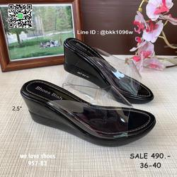 รองเท้าส้นเตารีด พลาสติกใสนิ่ม น้ำหนักเบา สูง 2.5 นิ้ว รูปเล็กที่ 5