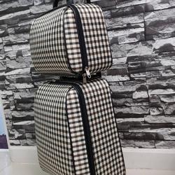 กระเป๋าเดินทางแบบผ้า เซ็ทคู่ 18/13 นิ้ว ลาย Khaki/Brown รูปเล็กที่ 3