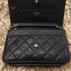 new chanel black caviar sarah wallet รูปเล็กที่ 3