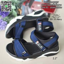 """รองเท้าลำลองส้นแบน วัสดุผ้าไมโครไฟเบอร์ พื้นพียูนิ่มๆ ดีเทลสายคาดหน้า สูง 2.2"""" รูปเล็กที่ 6"""