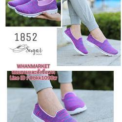รองเท้าผ้าใบ แบบสวม ทำจากผ้ายืดทออย่างดี  พื้นนิ่มและเบามาก รูปเล็กที่ 2