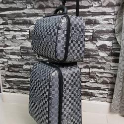 กระเป๋าเดินทางแบบผ้า เซ็ทคู่ 18/13 นิ้ว ลาย Gray/Black รูปเล็กที่ 3