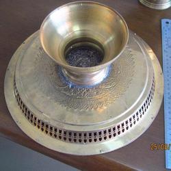 3787 เครื้องใช้ชุดทองเหลืองลาย เทพพนม มี ขัน พาน ทับพี ถาดสู รูปเล็กที่ 2