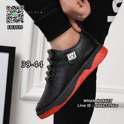 รองเท้าผ้าใบหนังนิ่ม แฟชั่นผู้ชาย วัสดุหนังpu คุณภาพดี  รูปเล็กที่ 4
