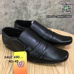 รองเท้าคัชชูหนัง สีดำ ผู้ชาย แบบสวม ทรงสุภาพ วัสดุหนังPU   รูปเล็กที่ 4