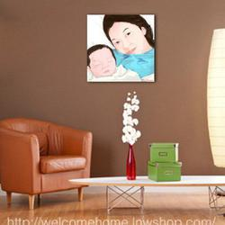 แต่งห้องนอนเล็กๆด้วยรูปติดผนังห้องสวยๆแบบ Portrait ครับ รูปเล็กที่ 2