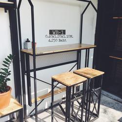 โต๊ะบาร์+เก้าอี้บาร์สไตล์ลอฟท์ รูปเล็กที่ 1