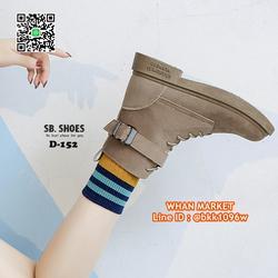 รองเท้าบูทสไตล์เกาหลี หนังPU มีเชือกปรับกระชับเท้า ทรงสวยมาก รูปเล็กที่ 3