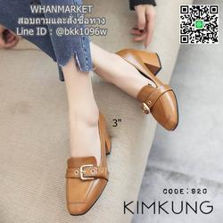 """รองเท้าคัทชูส้นสูง style oxford งานนำเข้า งานเกาหลี เข็มขัดด้านหน้า สูง 3"""" รูปเล็กที่ 6"""