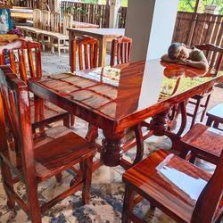 โต๊ะอาหาร ก80xย180+เก้าอี้ 8  ตัว  รูปเล็กที่ 3
