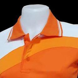 เสื้อโปโลสำเร็จรูปตัดต่อ สีส้มแบบสไลท์ ทรงสปอร์ตทั่งชาย-หญิง รูปเล็กที่ 2