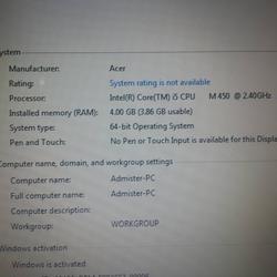 notebook Acer Aspire M450 รูปเล็กที่ 2
