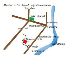 ขายที่ดินเปล่า ทำเลดีมาก เทศบาล ปทุมธานี สร้างได้ทุกอย่าง รูปเล็กที่ 2