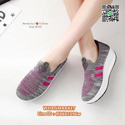 รองเท้าผ้าใบ เสริมส้น 2 นิ้ว วัสดุผ้าใบอย่างดี พื้นยาง  รูปเล็กที่ 5