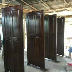 ร้านวรกานต์ค้าไม้ จำหน่าย ประตูไม้สักบานคู่ ประตูไม้สักบานเดี่ยว ประตูไม้สักกระจกนิรภัย ประตูโมเดิร์น รูปเล็กที่ 3