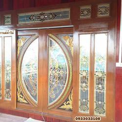 ประตูไม้สัก,ประตูไม้สักกระจกนิรภัย www.door-woodhome.com ร้านวรกานต์ค้าไม้ รูปเล็กที่ 6