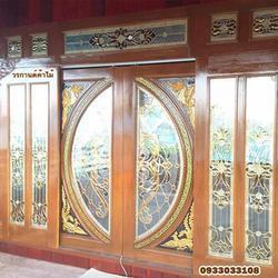 ประตูไม้สักกระจกนิรภัย รูปเล็กที่ 4