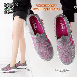 รองเท้าผ้าใบ เสริมส้น 2 นิ้ว วัสดุผ้าใบอย่างดี พื้นยาง  รูปเล็กที่ 2