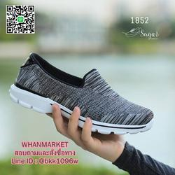รองเท้าผ้าใบ แบบสวม ทำจากผ้ายืดทออย่างดี  พื้นนิ่มและเบามาก รูปเล็กที่ 4