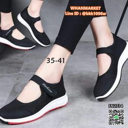 รองเท้าผ้าใบ พื้นนุ่ม น้ำหนักเบา ระบายอากาศได้ดี  รูปที่ 6