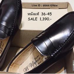 รองเท้าหนังแท้สีดำ ทรงโลฟเฟอร์ หัวมน วัสดุหนังแท้คุณภาพดี    รูปเล็กที่ 3