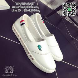 รองเท้าผ้าใบหนังนิ่ม สไตล์ลาคsอส ผ้าใบไร้เชือกสวมง่าย งานพียูนุ่มๆ น้ำหนักเบา รูปเล็กที่ 2