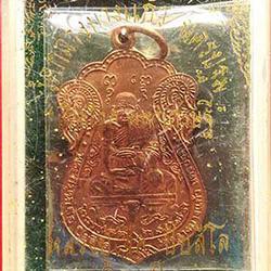 เหรียญเปิกโลก มหาเศรษฐี หลวงปู่เจือ ปิยสีโล วัดกลางบางแก้ว  รูปเล็กที่ 1