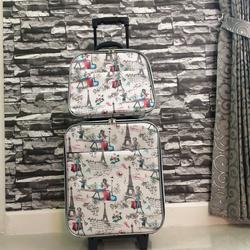 กระเป๋าเดินทางแบบผ้า ลายหอไอเฟล Set คู่ ขนาด 16 นิ้ว รูปเล็กที่ 2