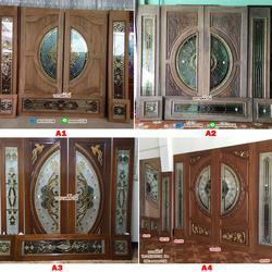 ร้านวรกานต์ค้าไม้ จำหน่าย ประตูไม้สักกระจกนิรภัย ประตูไม้สักบานคู่ ประตูไม้สักบานเดี่ยว ประตูหน้าต่าง ทั้งปลีกและส่ง รูปเล็กที่ 2